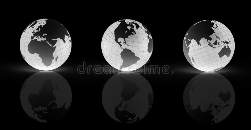 地球地球光 皇族释放例证