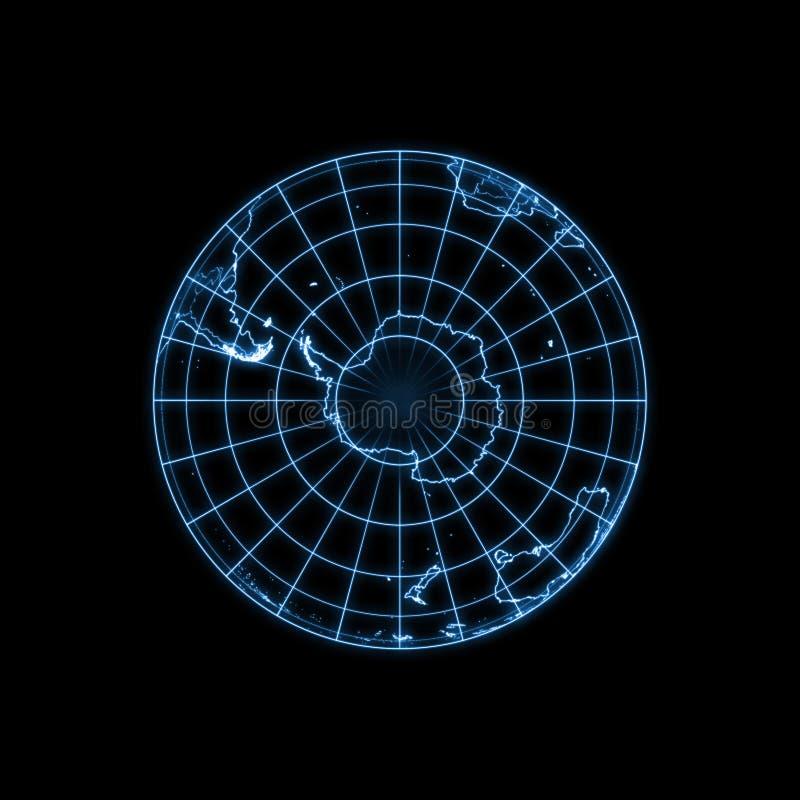 地球地球发光的轻的映射分级显示 库存例证