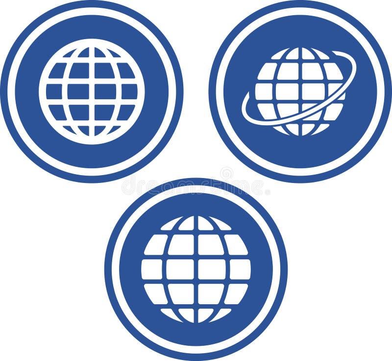 地球地球图标向量 向量例证