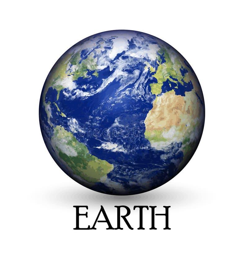 地球地球有背景 库存例证