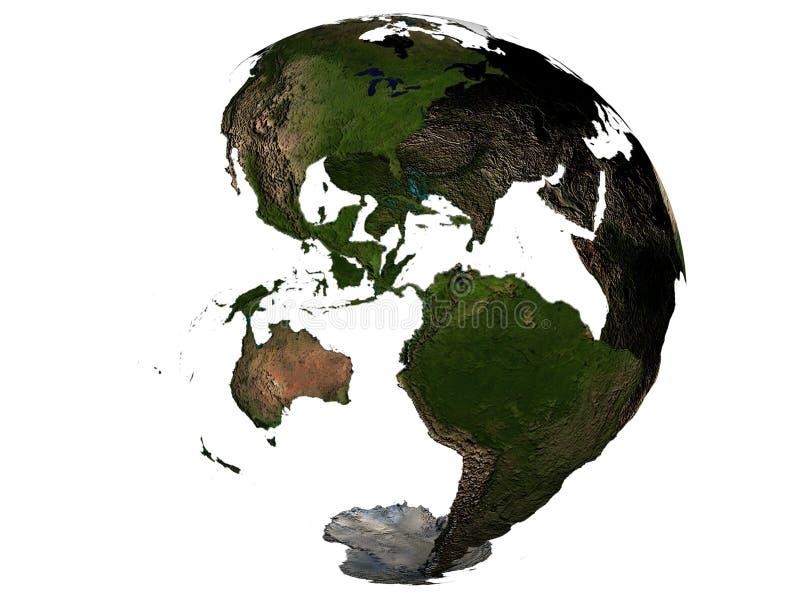 地球地球的美国 免版税库存图片