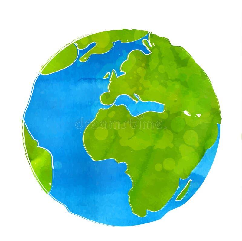 地球地球的艺术性的传染媒介例证 皇族释放例证
