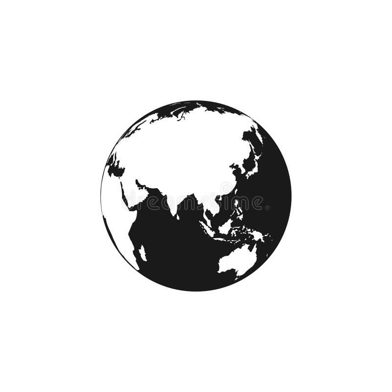 地球地球象 地球地球传染媒介象 黑地球地球传染媒介象 查出 向量例证