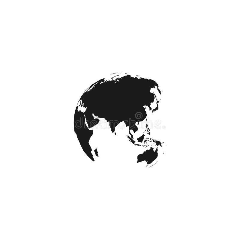 地球地球象 地球地球传染媒介象 黑地球地球传染媒介象 查出 皇族释放例证