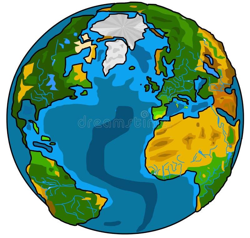 地球地球 皇族释放例证