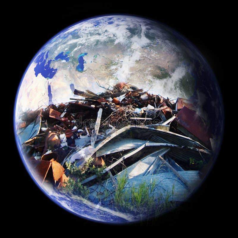 地球垃圾填埋 免版税库存图片