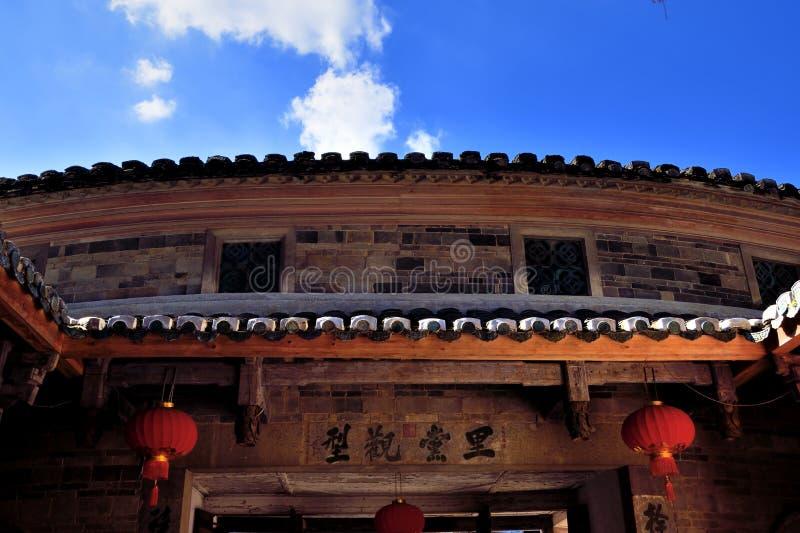 地球城堡门头,在中国南部 库存图片