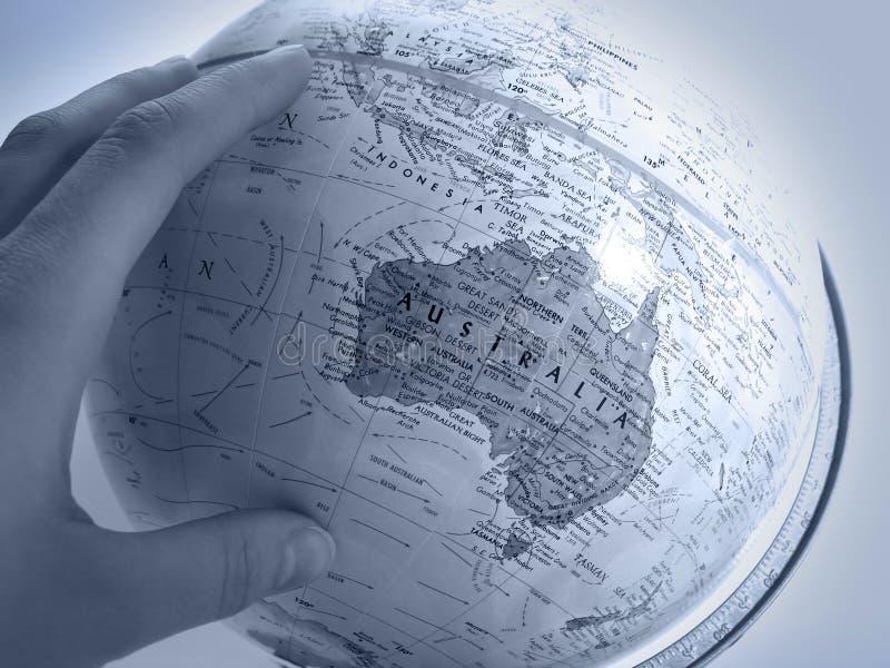 地球大洋洲请求研究 免版税图库摄影