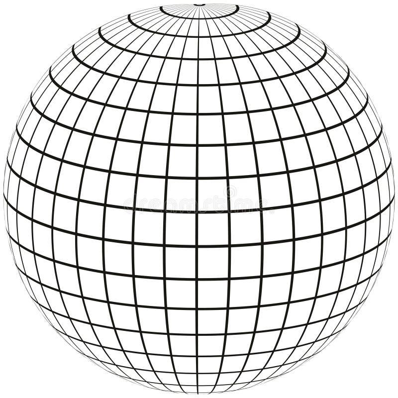 地球子午线和经度 皇族释放例证