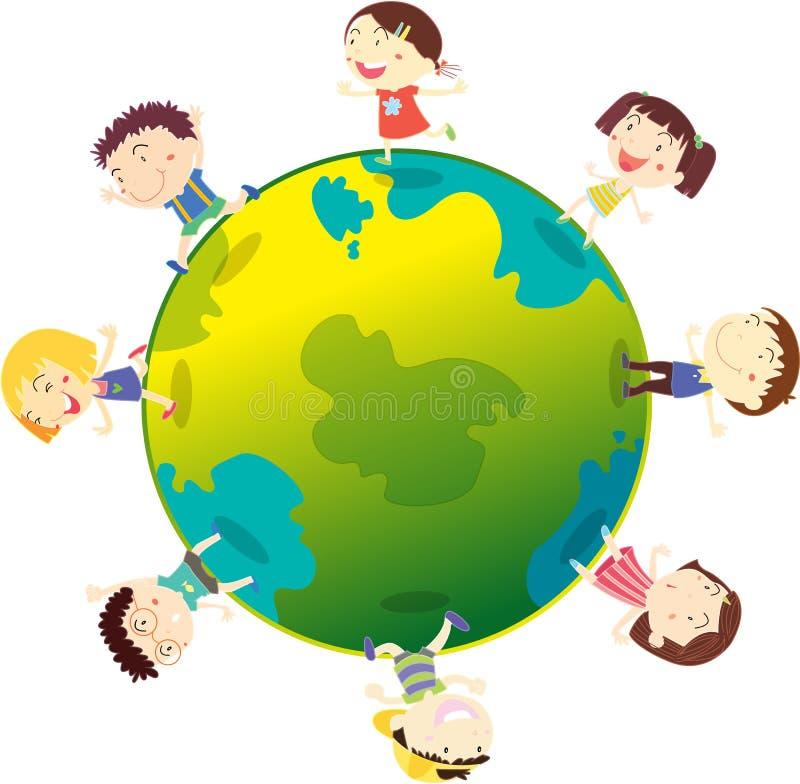 地球孩子 库存例证