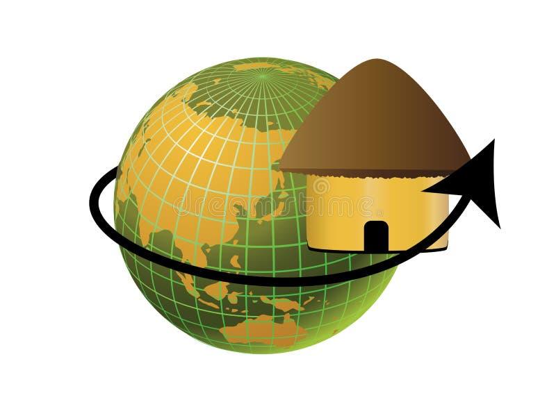 地球小屋 库存例证