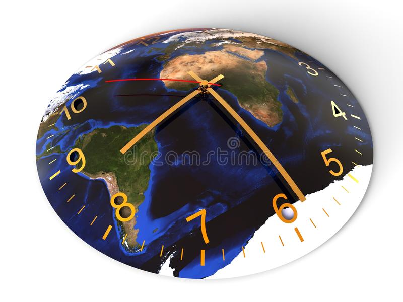 地球小时概念 皇族释放例证
