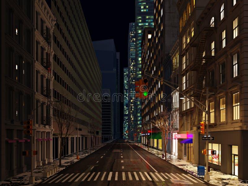 地球小时 生态上大城市生活 3d翻译 库存例证