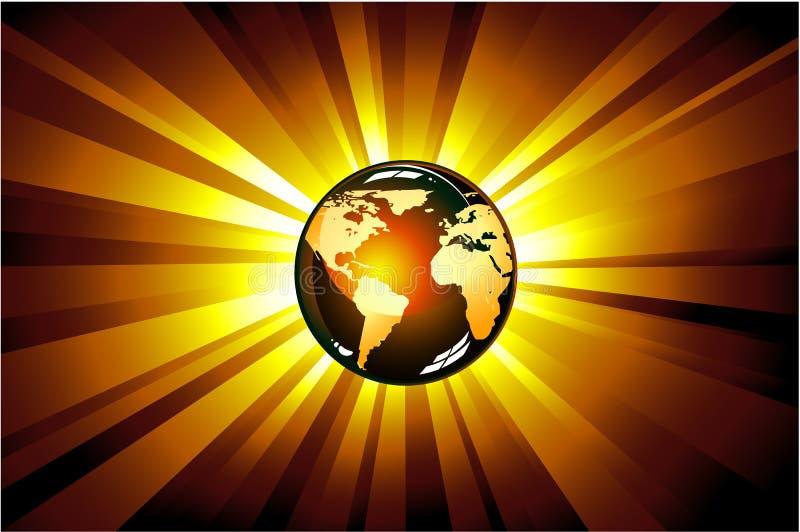 地球展开光 皇族释放例证