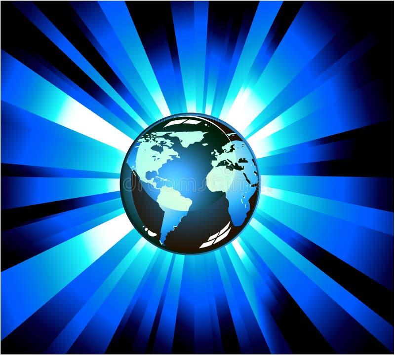 地球展开光 向量例证