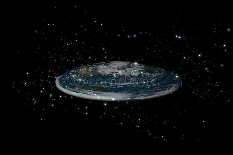 地球平面的里面stars1 向量例证