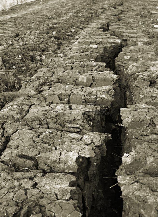 地球强硬路线分裂了 库存图片