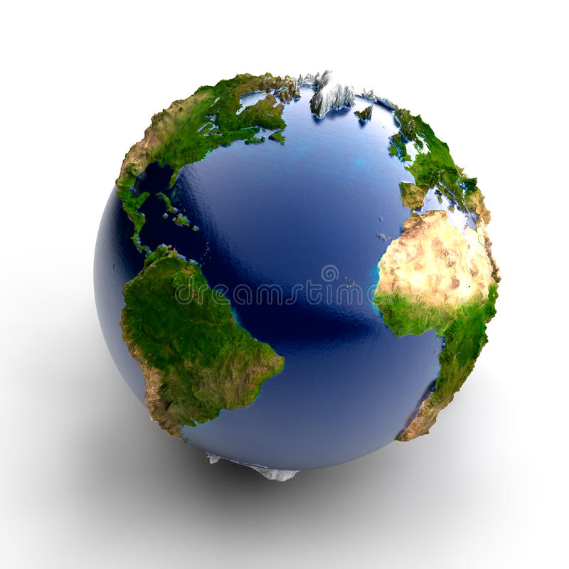 地球微型实际 向量例证