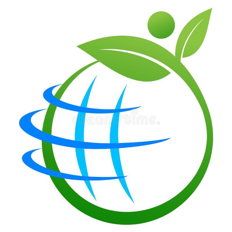 地球徽标保存 库存例证