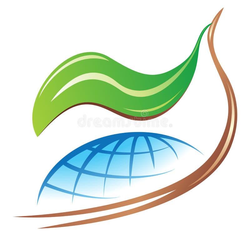 地球徽标保存 向量例证