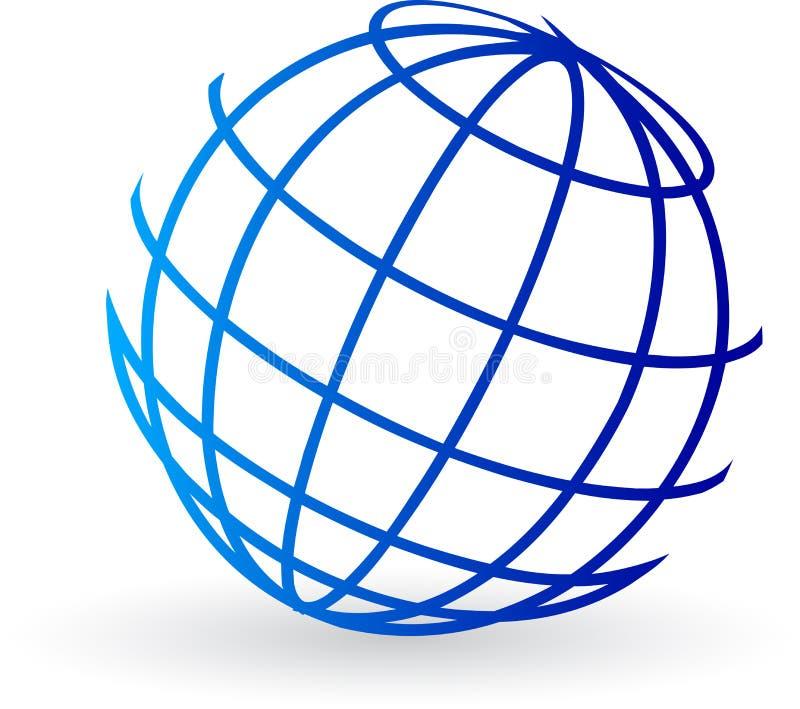 地球徽标 皇族释放例证