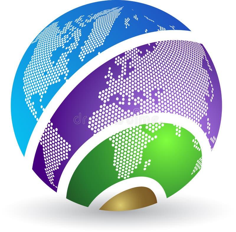 地球徽标 向量例证