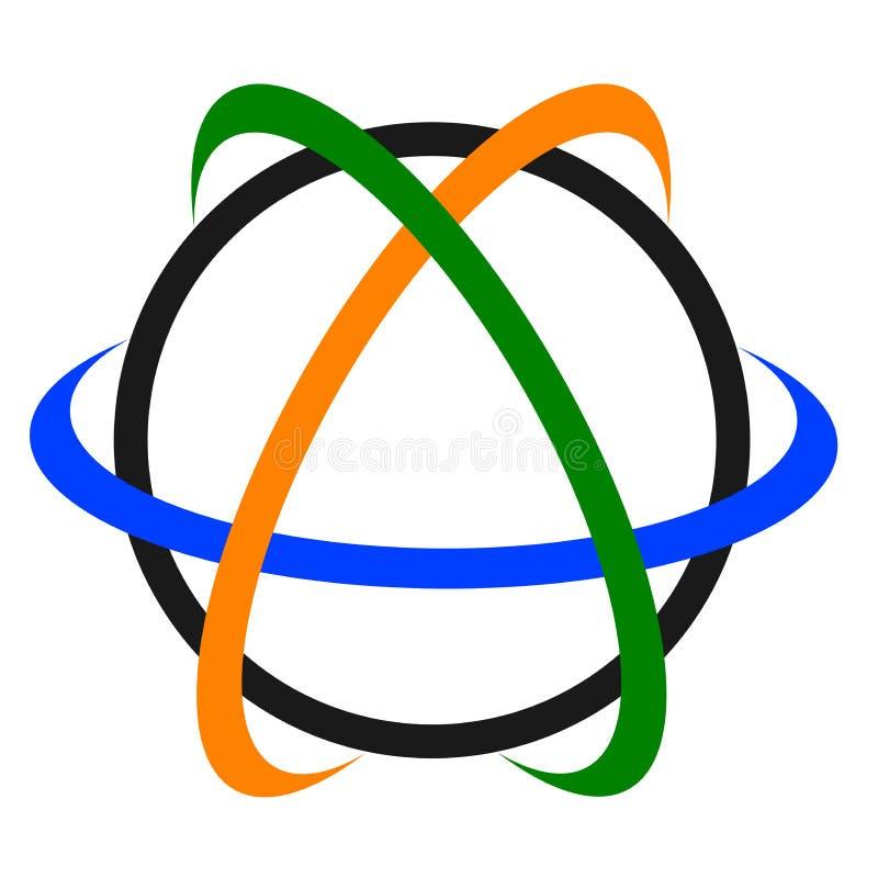 地球徽标 库存例证