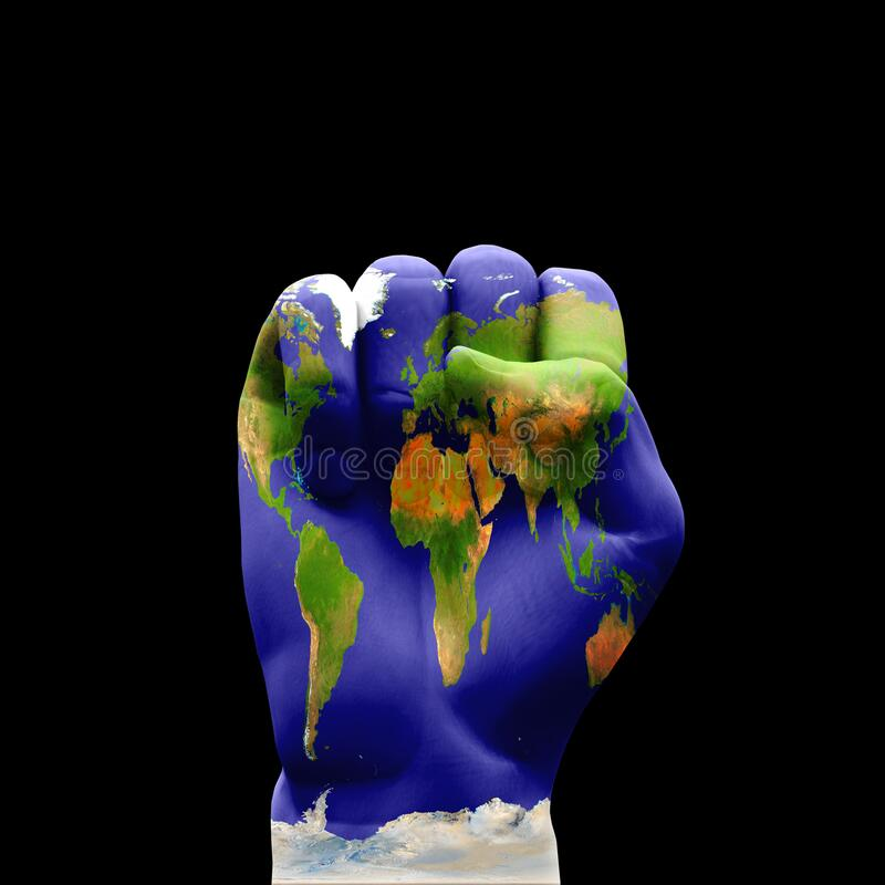 地球拳 图库摄影