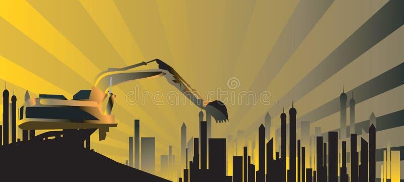 地球搬家工人设备   向量例证