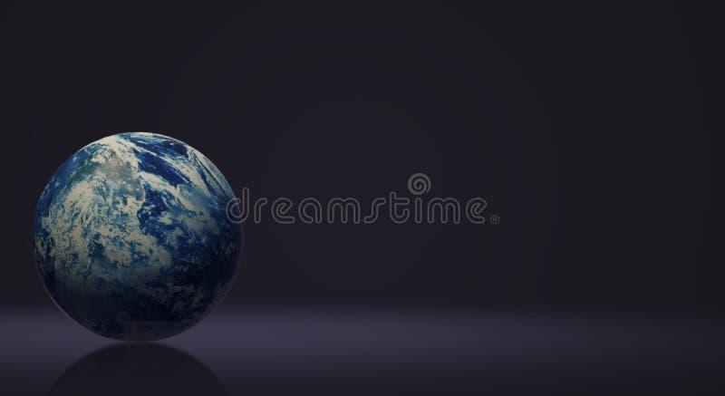 地球日和eco内容的蓝色行星3d翻译 库存例证