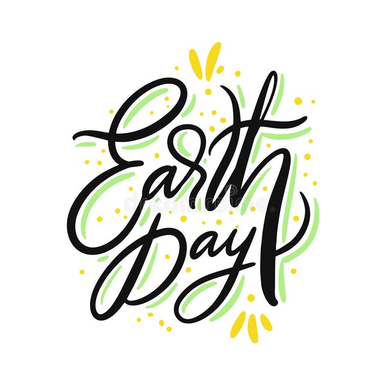 地球日唱歌 r r 库存例证