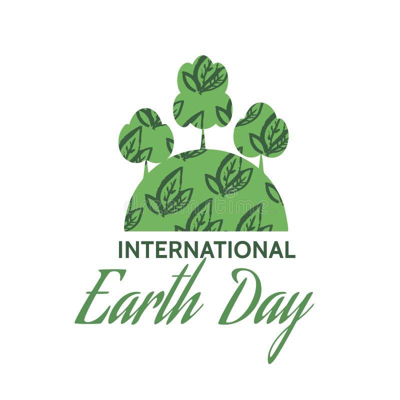 地球日设计海报 库存例证