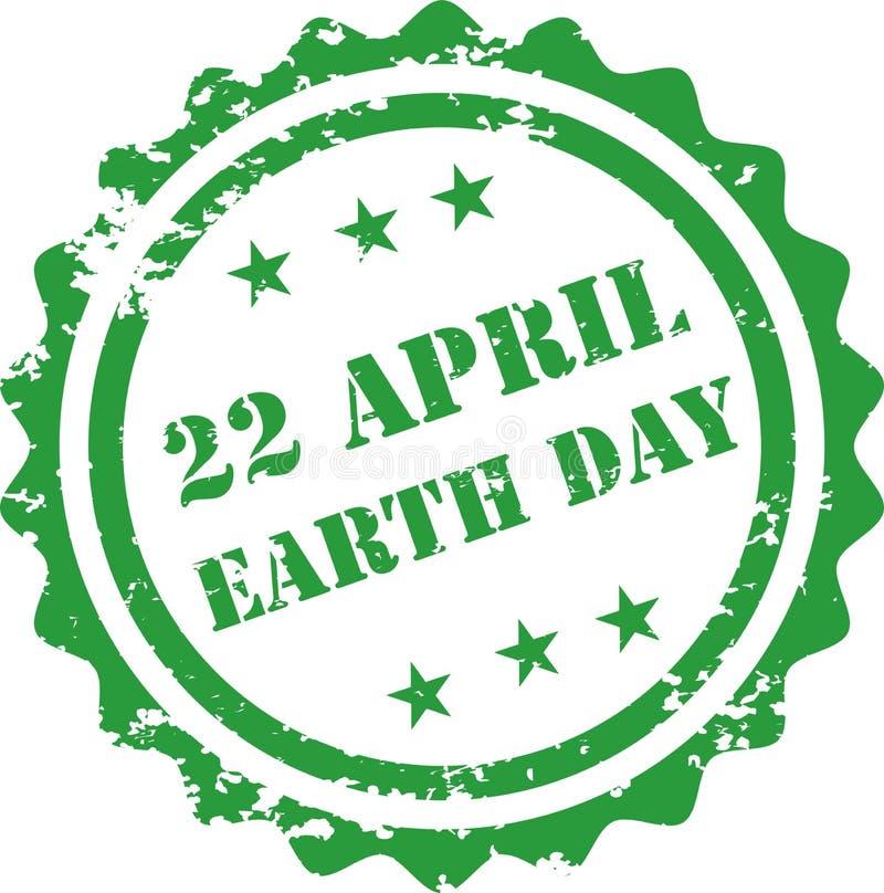 地球日邮票 向量例证