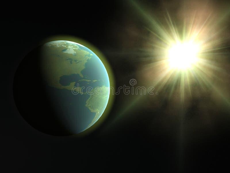 地球星期日 向量例证