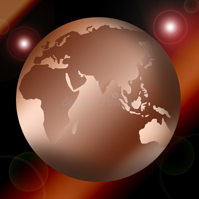 地球映射世界 皇族释放例证