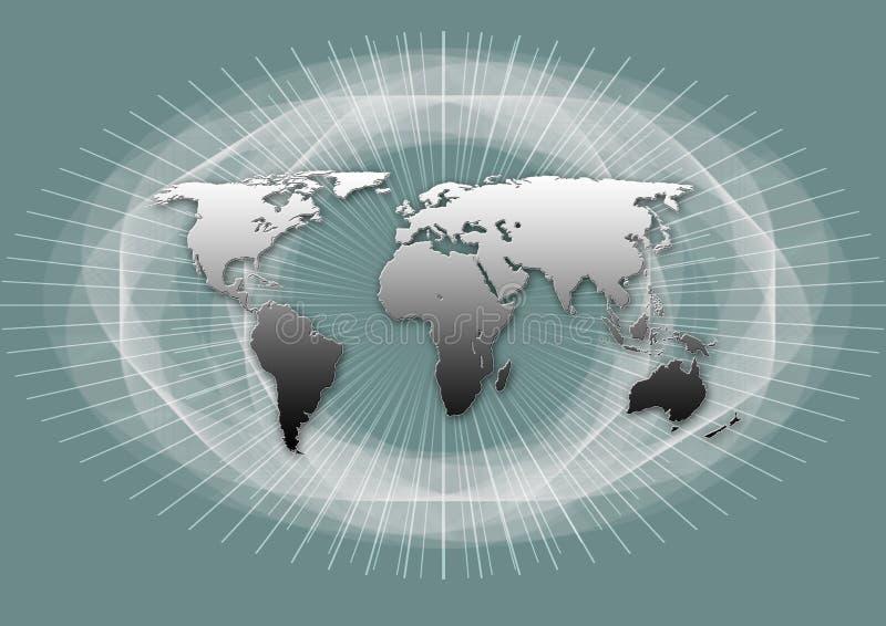 地球映射世界 库存例证