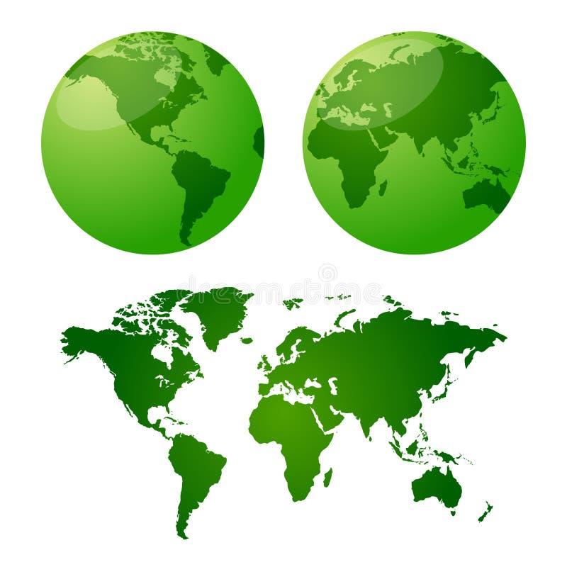 地球映射向量 库存例证