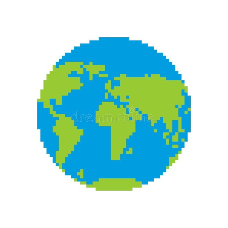 地球映象点艺术 Pixelated行星 也corel凹道例证向量 皇族释放例证