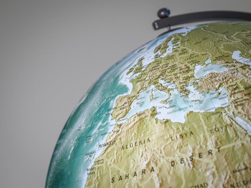 地球显示欧洲 皇族释放例证