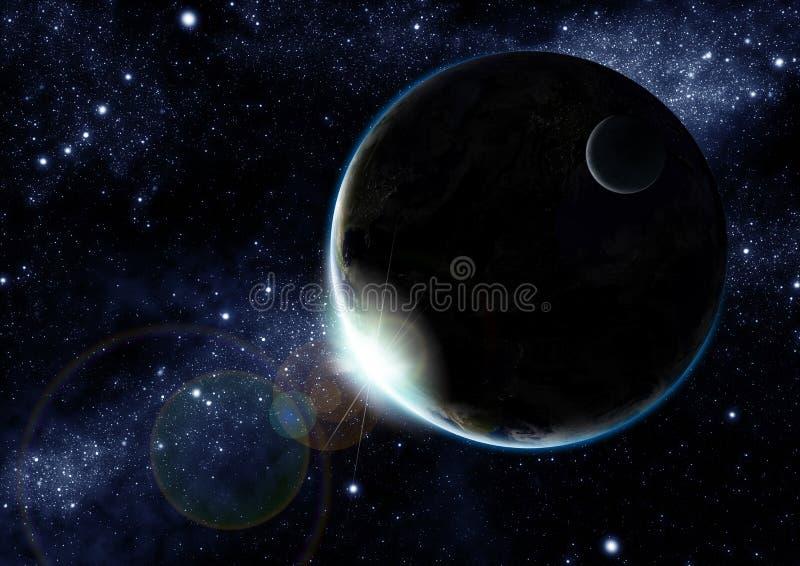 地球晚上 向量例证