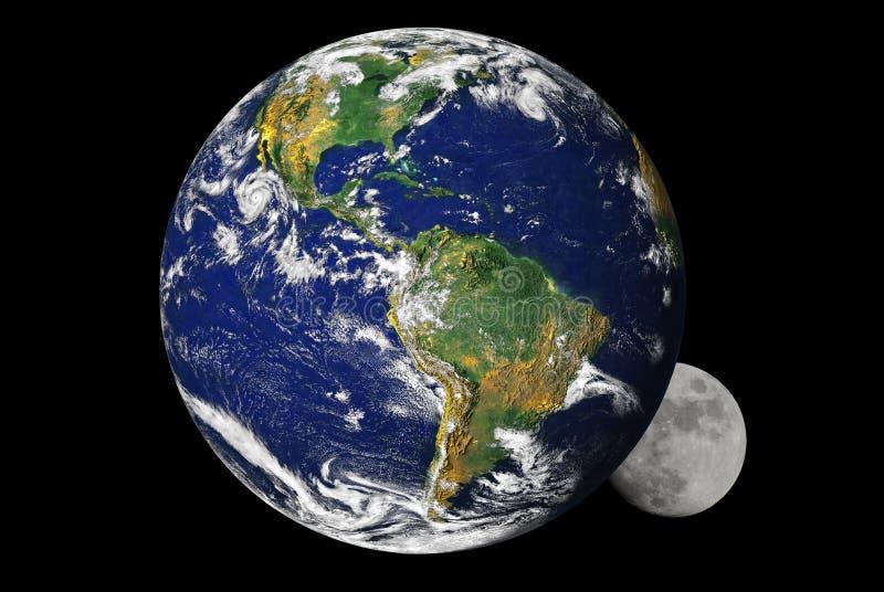 地球月亮 库存图片