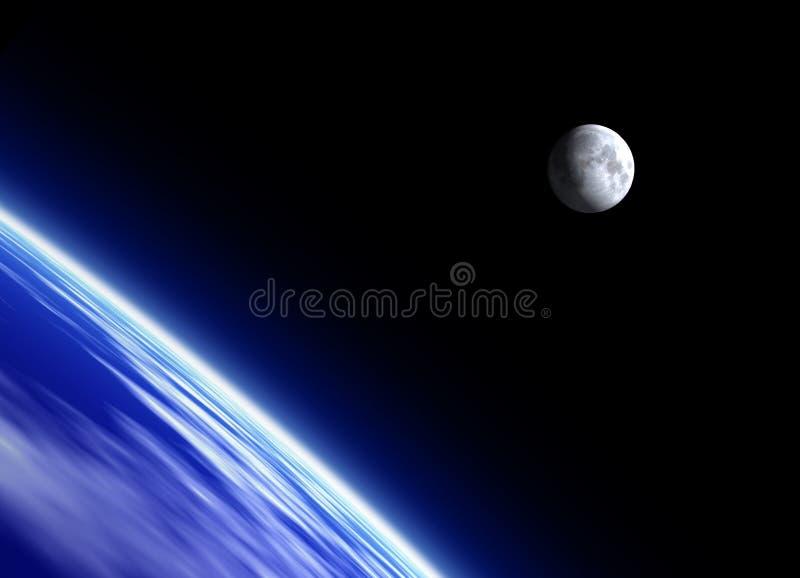 地球月亮 向量例证