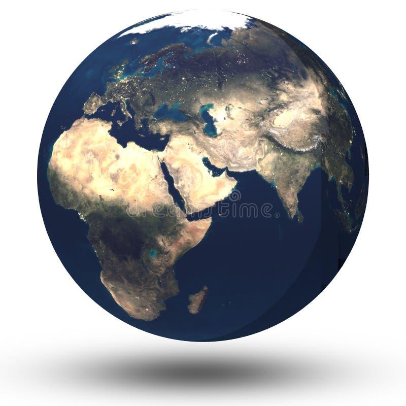 地球查出的行星 库存例证