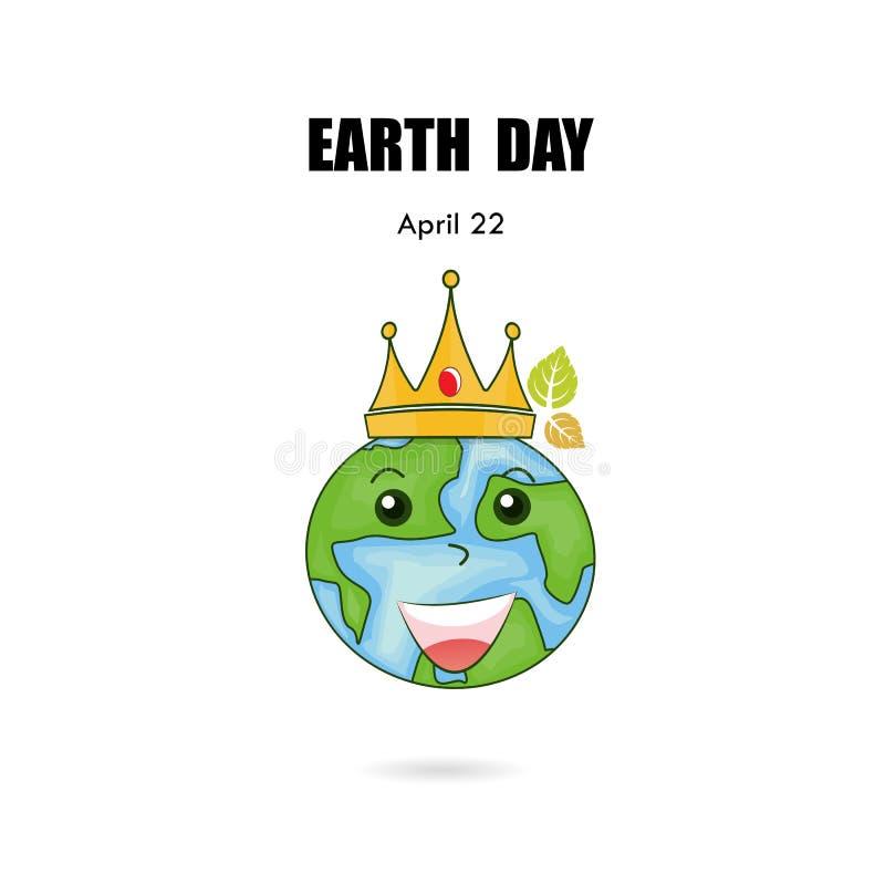 地球标志&冠传染媒介商标设计模板 世界地球日象 Ea 库存例证