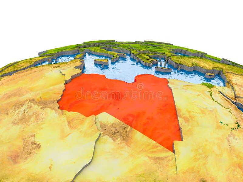 地球模型的利比亚  皇族释放例证