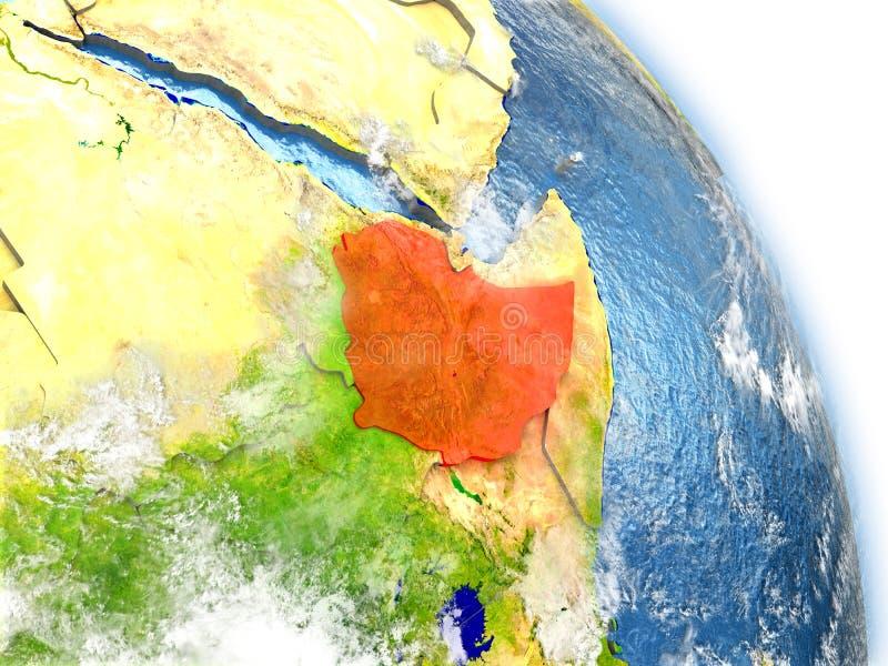 地球模型的埃塞俄比亚  皇族释放例证