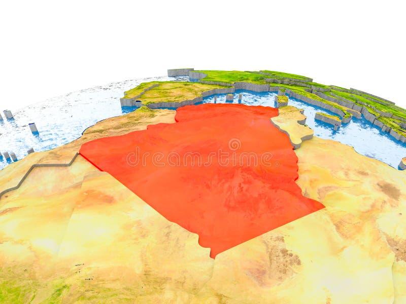 地球模型的阿尔及利亚  库存例证