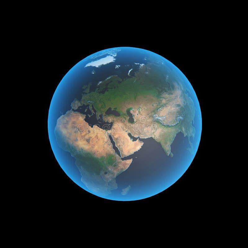 地球欧洲 库存例证