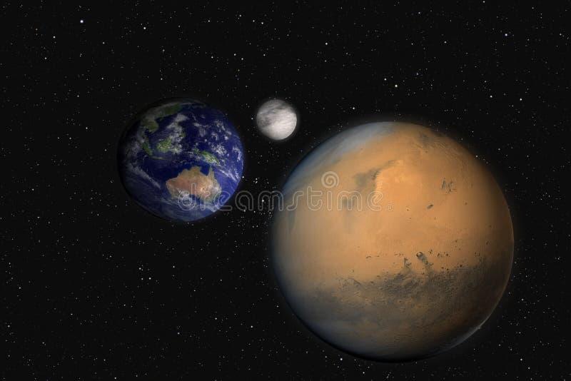 地球毁损月亮 向量例证