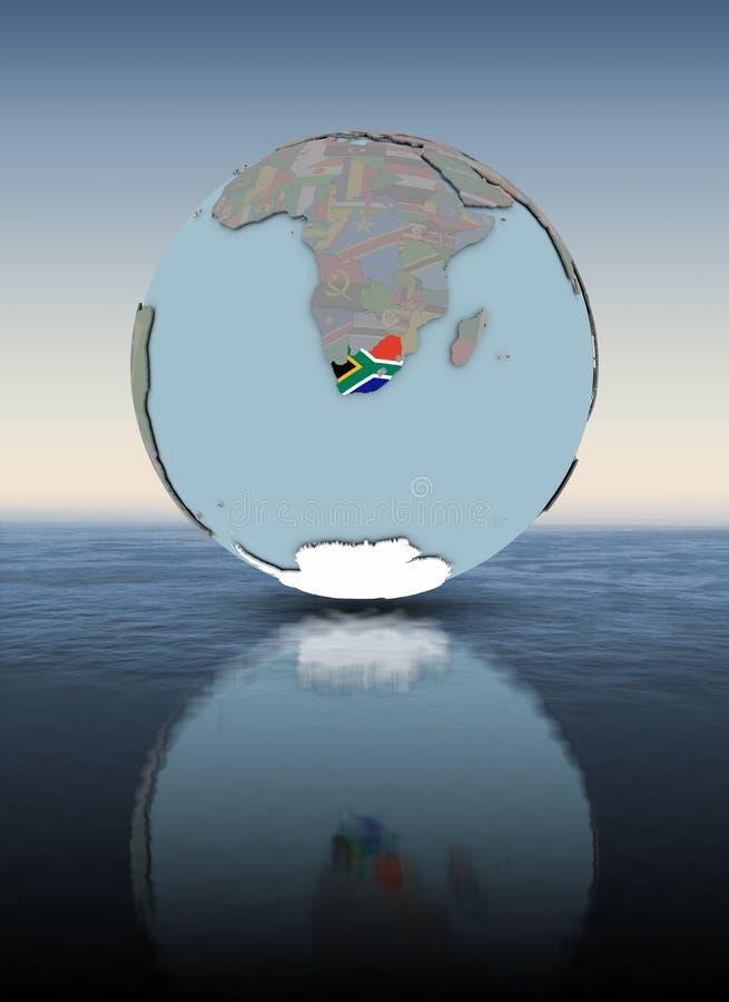 地球水面上的表面上的南非 皇族释放例证